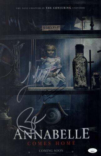 James Wan ANNABELLE COMES HOME Cast X4 Signed 11x17 Photo Autograph JSA COA