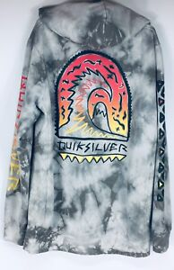 Vintage Quiksilver graphic hoodie men's XL back print and arms