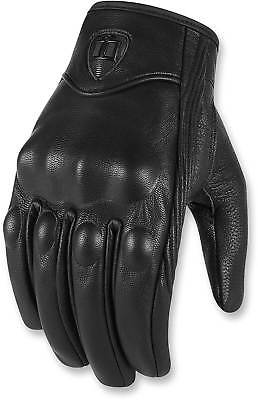 Street Riding Gloves - Icon Pursuit CE Gloves - Touchscreen Motorcycle Street Riding Leather Men