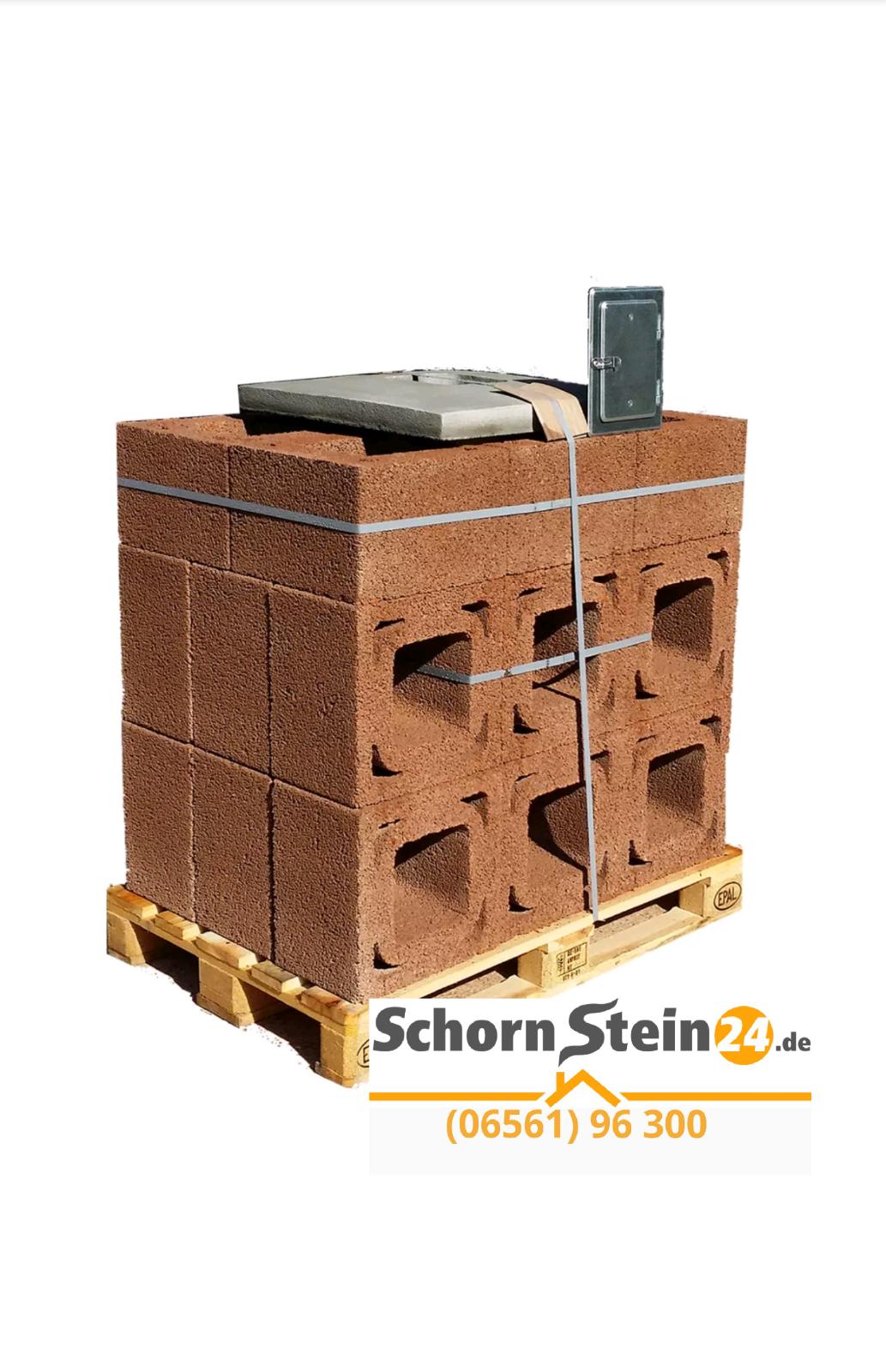 Schornstein Bausatz Massiv, Komplett System,6 Meter nach DIN EN1858