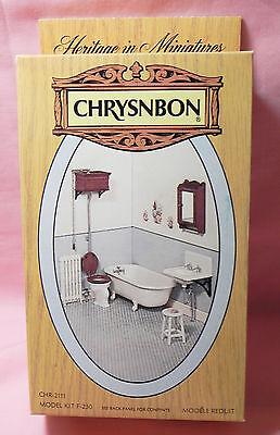 Dollhouse Miniature Vintage Victorian Bathroom Kit Chrysnbon F-230 1:12 Scale