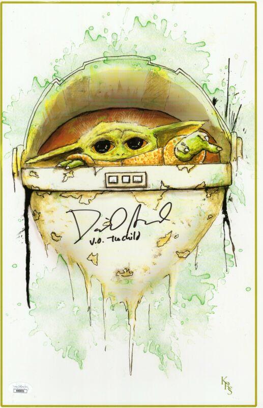David Acord Autograph 11X17 Art Print The Mandalorian The Child Signed JSA COA