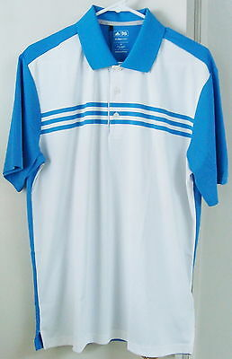 NWT Adidas ClimaCool 3-Stripes Polo, Color-White/Oasis, Style #Z22064, X-Large