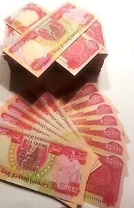 100,000 New Iraqi Dinar 4 X 25,000 Uncirculated Notes US  Treasury Registered