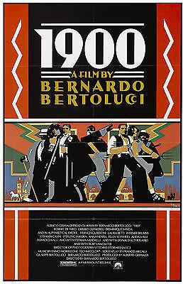 1900 1976 Bernardo Bertolucci, Burt Lancaster, Robert De Niro US 1-SHEET POSTER
