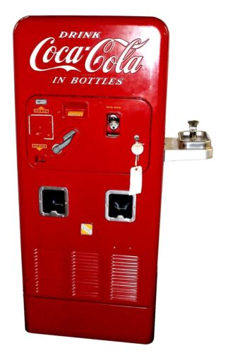 Fully Restored Vintage VMC Model 72 Coca-Cola Vending Machine w/ Water Fountain