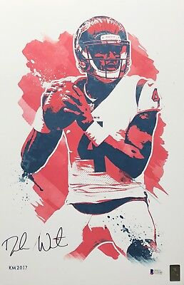 Poster Pro Football Texans Quarterback Deshaun Watson Huge 19x13 Action Photo