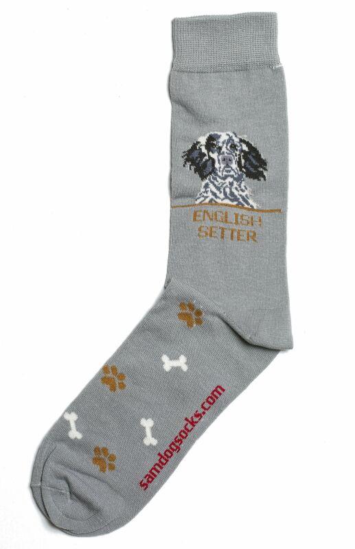 English Setter Dog Socks Mens