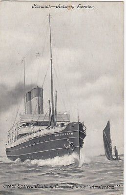 """Great Eastern Railway Company's S.S. """"Amsterdam"""" Ocean Liner & Sail boat, PU-191 for sale  Shipping to Canada"""