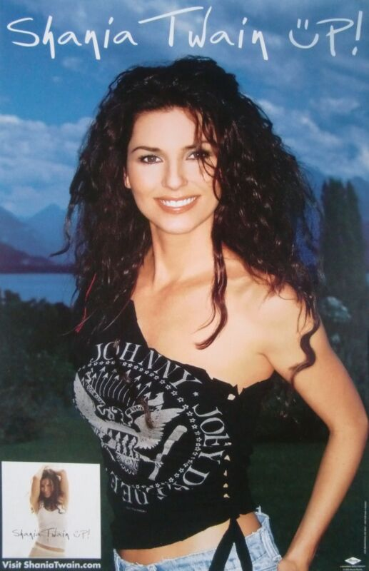 """SHANIA TWAIN """"UP"""" U.S. PROMO POSTER - Sexy Country Music Superstar!"""