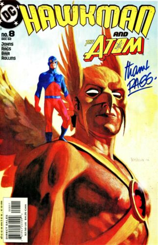 HAWKMAN #8 & THE ATOM SIGNED BY ARTIST RAGS MORALES
