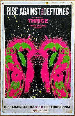 DEFTONES | RISE AGAINST | THRICE 2017 Ltd Ed RARE Tour Poster +FREE Rock Poster!