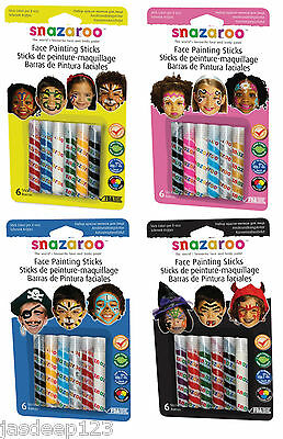 Snazaroo Face Paint Sticks Boys Girls Unisex Halloween Packs Theme Fancy Dress ](Girl Face Painting Halloween)