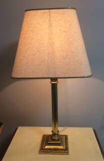 Vintage Look Gold and Cream BEDROOM LAMP