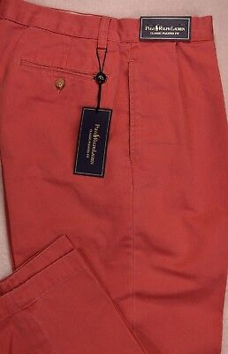 Polo Ralph Lauren Classic Pleated Fit Chino Pants 42/30 42/32 NWT