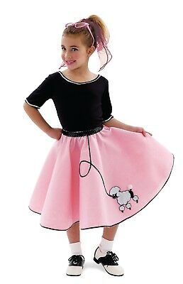 Baby Poodle Skirt Halloween Costume ( 50's Poodle Skirt Costume Set - Child X-Small 4, Halloween, Pink and Black)