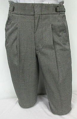 Black and White Houndstooth Patterned Dress Pants Theater Halloween Costume - Halloween Costume Black And White