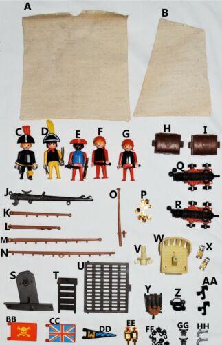 Playmobil 3550 3750 PICK CHOOSE PIRATE SHIP BOAT parts Bowsprit sails figures