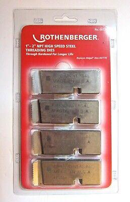 Rothenberger 00126 Ridgid 47770 High Speed Steel Threading Dies 1-2 Inch