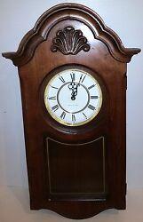 Howard Miller 612-700 Westminster Chime Wall Clock - Quartz (MISSING PENDULUM)