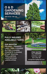 O & D Gardening Services Bankstown Bankstown Area Preview