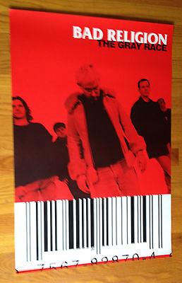 BAD RELIGION The Gray Race original 20x30 promo poster PUNK Atlantic not Epitaph