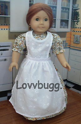 "Lovvbugg Baking Dress with Apron for 18"" American Girl Doll Clothes"