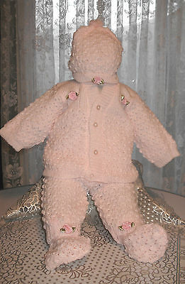 CUTE Knit Baby Doll Outfit For Reborn PINK