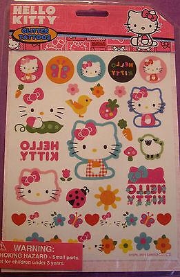 NEW 28 pc HELLO KITTY GLITTER TATTOOS Hearts Flowers Ladybugs Hello Kitty SANRIO](Ladybug Tattoos)