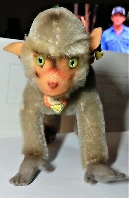 Steiff Vintage Coco The Baboon handmade German stuffed animal-Collectible Toy