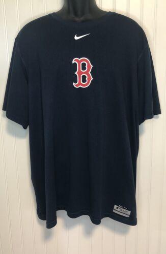 Nike DRI-FIT Authentic Boston Red Sox Blue T Shirt Mens Size
