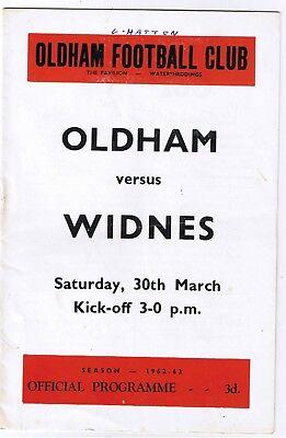 Oldham v Widnes 1962/3 (30 Mar)