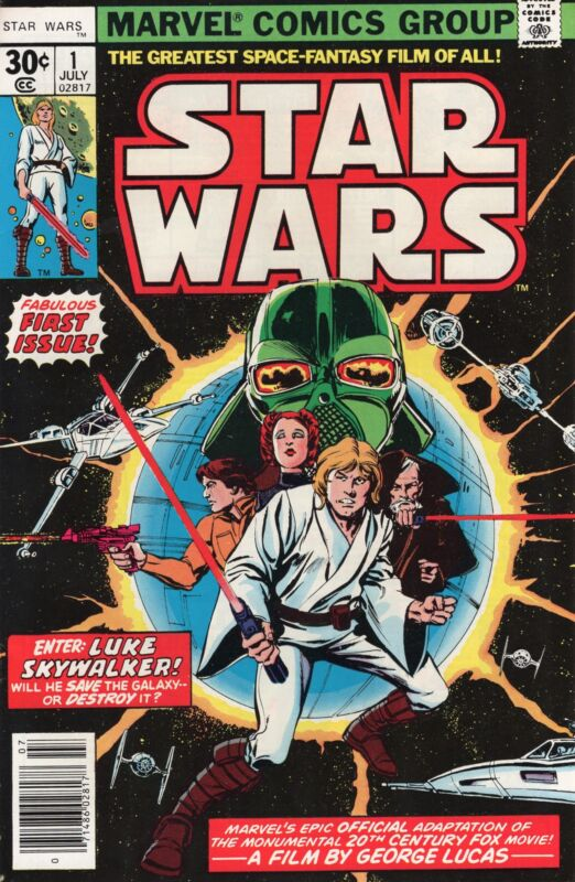 Star Wars #1 First Print Marvel Comics 1977 High Grade 9.4 NM (W Pages) sc-#102
