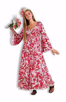 FLOWER CHILD 60'S HIPPIE ADULT HALLOWEEN COSTUME WOMEN'S SIZE (Hippie Flower Child Adult Kostüm)