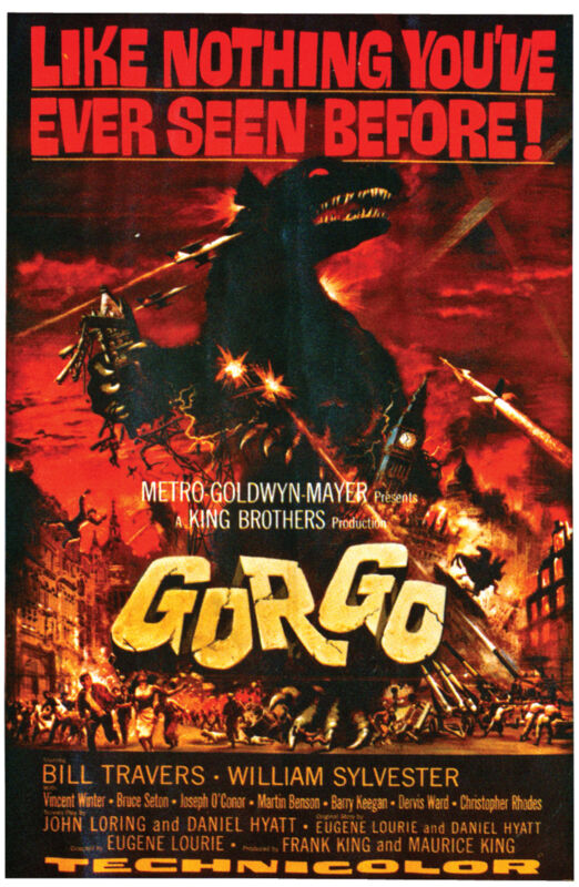 Gorgo Movie Poster Cling  Decoration Prop