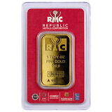 Republic Metals 1 oz. Gold Bar (Sealed/Red Assay Card) SKU44285