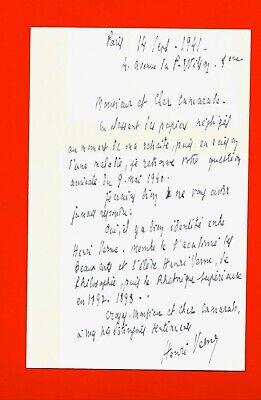 AF29-L.A.S-HENRI VERNE-HISTORIEN DE L'ART-TRADUCTEUR-[LYCÉE LOUIS LE GRAND]-1941