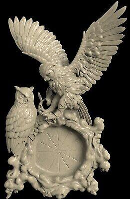 3D STL Model # TWO OWLS # for CNC Aspire Artcam 3D Printer 3D MAX Rhino ()