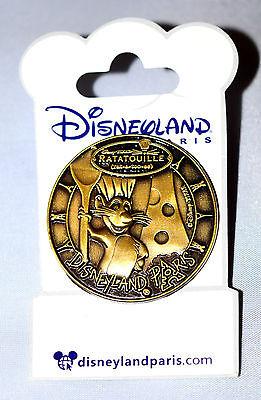 ☀️REMY Ratatouille DLP DLRP Paris Medal Medallion Coin Gold Disney Pin New