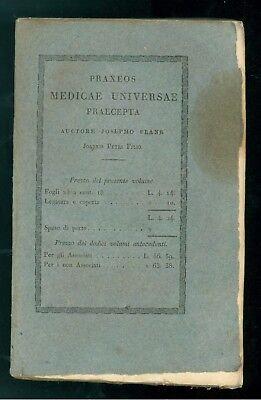 FRANK JOSEPHO PRAXEOS MEDICAE UNIVERSAE PRAECEPTA DE MORBIS ORIS BALBINI 1834