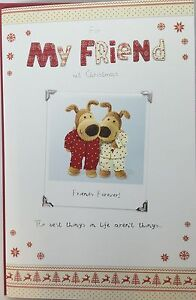 Boofle For My Friend Christmas Greeting Card, new, gift, xmas, best, love