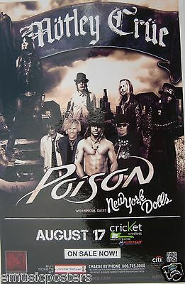 MOTLEY CRUE / POISON / NEW YORK DOLLS 2011 SAN DIEGO CONCERT TOUR POSTER - Metal