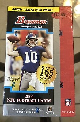 Bowman Nfl Football Cards Box - 2004 Bowman NFL Football Cards Home Of The Rookie Blaster Box!!!