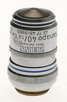 Zeiss Microscope Objective Lens Used 40x Planapo 4010 Oel M.l 46 17 46 Axio