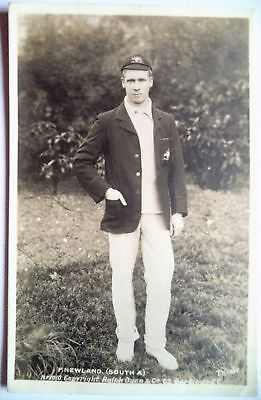 PHIL NEWLAND AUSTRALIA 1905 RALPH DUNN REAL PHOTO CRICKET POSTCARD