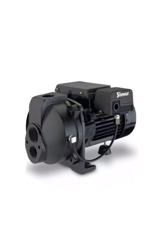 Simer 3207C 3/4 HP Convertible Deep Well Jet Pump, Black