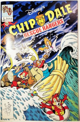 CHIP n DALE RESCUE RANGERS (Disney, 1990 Series) #8 Jan 1991 VERY FINE or better