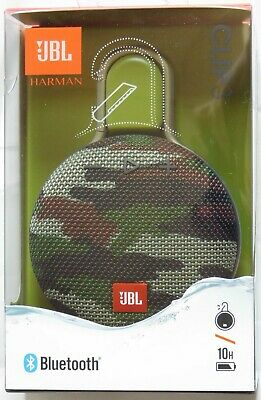 JBL Clip 3 Portable Bluetooth Waterproof Speaker - Camo