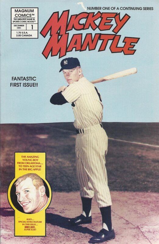 1991 MICKEY MANTLE Comic No. 1-Magnum Comic