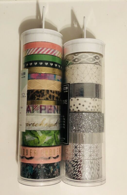 Lot Of 21 - The Paper Studio Washi Tape - New In Tube